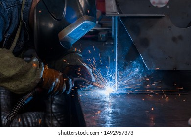 welding of metal structures in production
