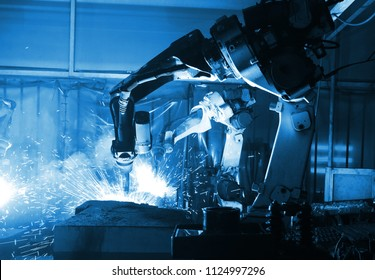 welding robot  in the automotive parts industry