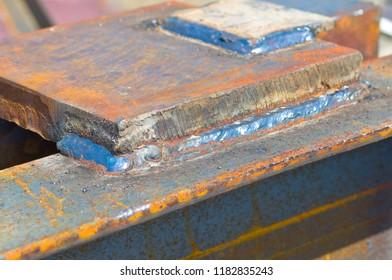 Welding seam on metal structures