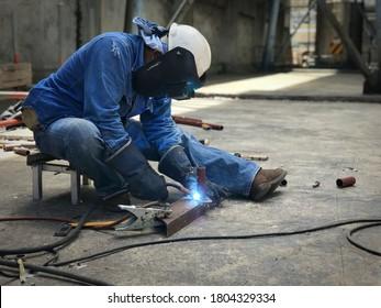 Welding of small metals with argon welding
