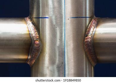 Welding of stainless steel with argon. Argon arc welding