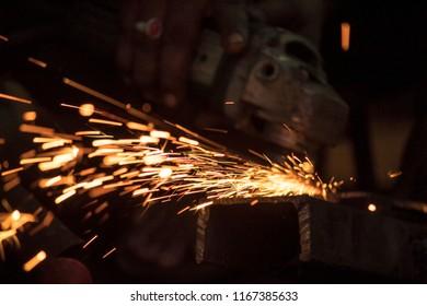 Welding work. Photo taken in Kakinada
