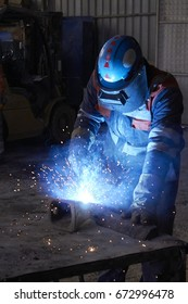 welds at the factory