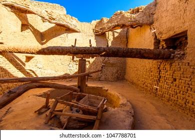 Well in Al Qasr, old village in Dakhla Desert, Egypt