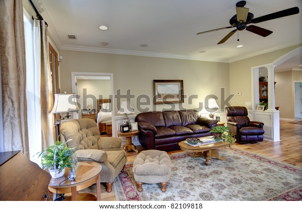 . Well Decorated Living Room Nice House Stock Photo  Edit Now  82109818