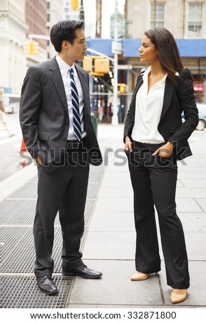 Well Dressed Man Woman Stand Look Stock Photo (Edit Now ...
