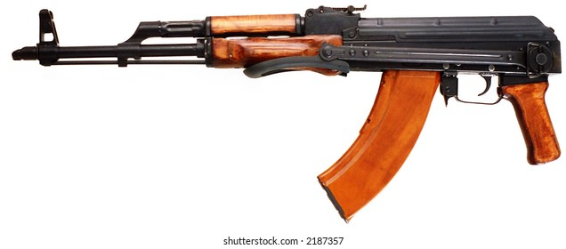 Well known   AK-47 kalashnikov assault rifle.