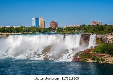 The well known Niagara Falls in Canada, Ontario