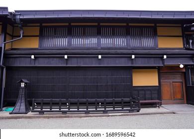 well preserved traditional wooden houses in old town area of Hida-Takayama, Gifu, Takayama, Japan