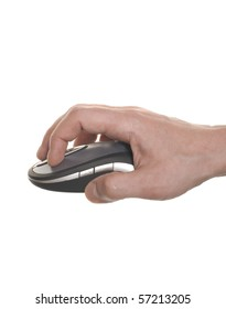 well shaped business man's hand working on computer mouse