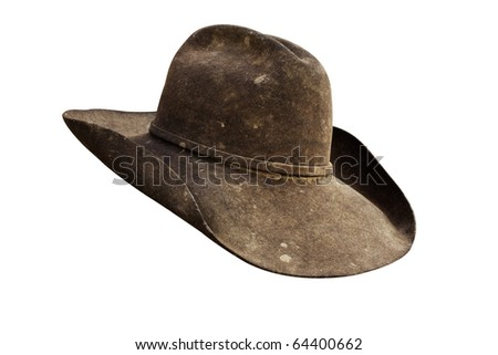 Well Worn Leather Cowboy Hat All Stock Photo (Edit Now) 64400662 ... 78ee248deac