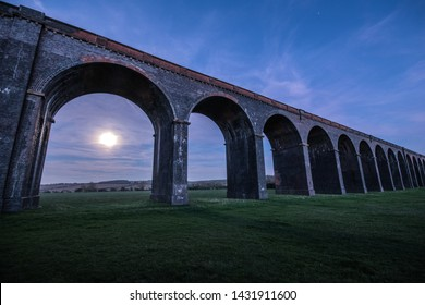 Welland viaduct Rutland Northamptonshire England