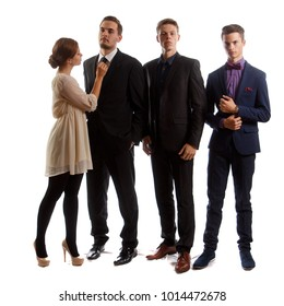 Well-dressed young people