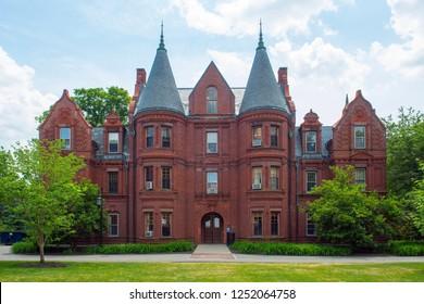 Wellesley College Billings Hall in Wellesley, Massachusetts, USA.