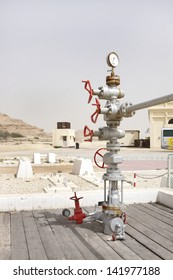 Wellhead assembly in the First oil well in the Persian Gulf, Bahrain