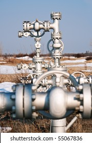 wellhead in the oil and gas industry. spring.