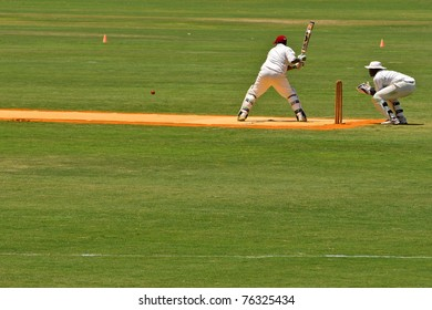 WELLINGTON, FLORIDA - APRIL 24: Jamaica's cricket batsman vs Egypt in the first annual International Sports Weekend at the International Polo Club of Palm Beach on April 24 2011 in Wellington, Florida.