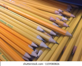 Wellington, FL/USA - August 13, 2018: Back to School Supplies for a Second Grade Class