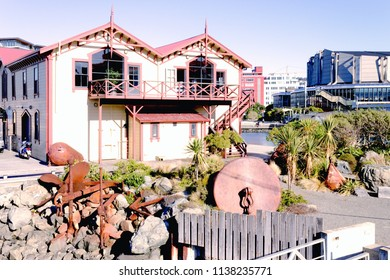 Wellington, New Zealand - June 4, 2016: The Boatshed, home of the Star Boating Club on the Wellington Waterfront was registered as a Category one Historic Place in June 2009.