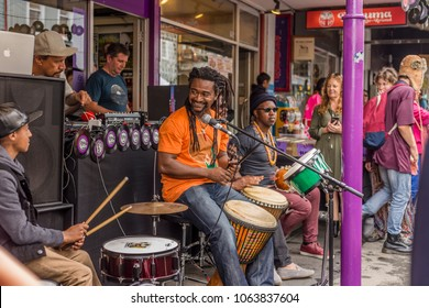 Wellington, New Zealand - March 25, 2018: Fantastic food, drink and live bands at Cuba Dupa Festival 2018 in Wellington, New Zealand.