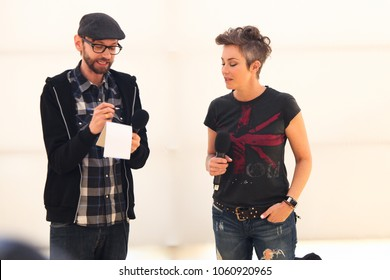 WELLINGTON, NEW ZEALAND - March 30:   Kim Rhodes (actress known for Supernatural, Wayward Sisters, The Suite Life of Zack and Cody)  and DJ Qualls (actor Citizen Z, Supernatural) at Armageddon 2018