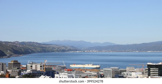 Wellington, New Zealand - November 5, 2015: Wellington City and Harbour
