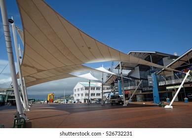 WELLINGTON, NEW ZEALAND, OCTOBER 19, 2016: Historic Queen's Wharf in Wellington, New Zealand on October 19, 2016.