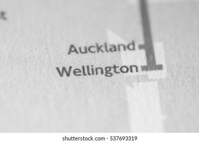 Wellington, New Zealand on a geographical map.