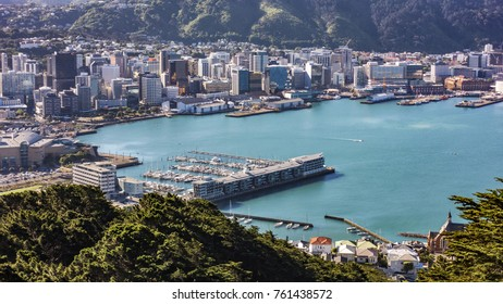 WELLINGTON - NOV 22 Wellington city, the capital of New Zealand, pictured from the top of Mount Victoria on November 22, 2017 in Wellington, New Zealand.