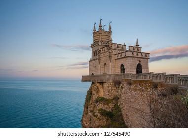 The well-known castle Swallow's Nest near Yalta. Crimea, Ukraine