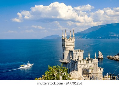 The well-known castle Swallow's Nest near Yalta. Crimea