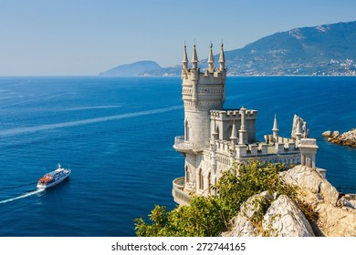 The well-known castle Swallow's Nest near Yalta. Crimea.