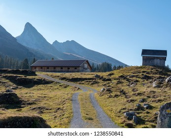the well-known swiss churfirsten in the alps