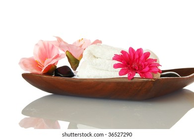 wellness and bath still life isolated on white background