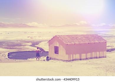 A wellness hut in Atacama desert