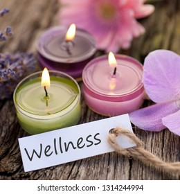 Wellness objects on woorden ground