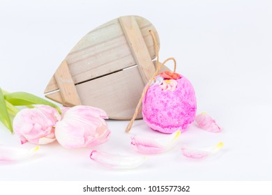 wellness and spa decoration with bath  bomb