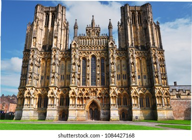Wells Cathedral in Wells, England