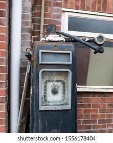 Wells next the Sea, Norfolk, UK 10/11/2019 Old vintage dial fuel pump