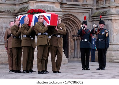 Wells, Somerset, UK - August 06 2009: Funeral for the Last Tommy, Harry Patch at Wells Cathedral