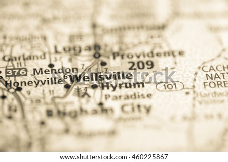 Wellsville Utah Map.Wellsville Utah Usa Stock Photo Edit Now 460225867 Shutterstock