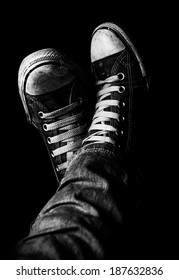 Well-Worn Retro Sneakers