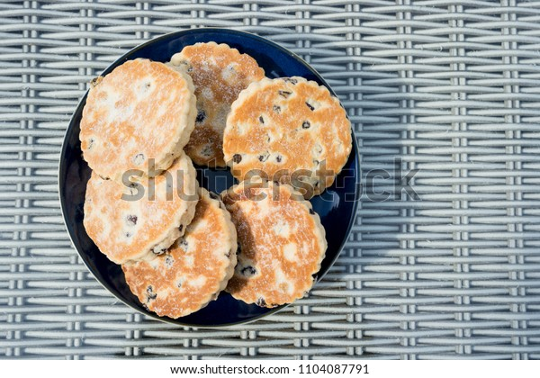 Welsh Cakes on a plate - also known as Bakestones
