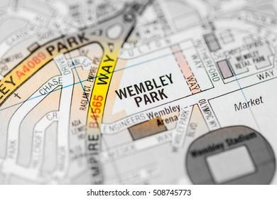 Wembley Park. London, UK map.