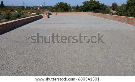 Wen Concrete Poured On Wire Mesh Stock Photo (Edit Now
