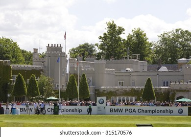 WENTWORTH, ENGLAND. 22 MAY 2009. Lee SLATTERY ENG at the first tee of the European Tour BMW PGA Championship.