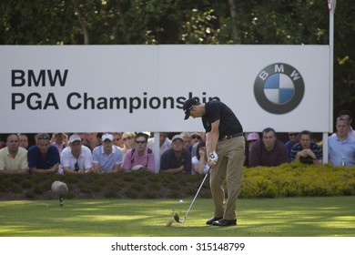 WENTWORTH, ENGLAND. 24 MAY 2009.Ross Fisher (GBR) playing in the final round of the European Tour BMW PGA Championship.