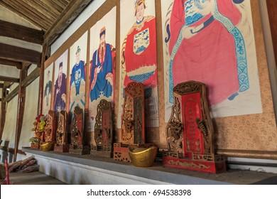 Wenzhou, China, July 2016: ancestral temple is a place of worship, and ancestor worship is an important part of Chinese traditional culture.