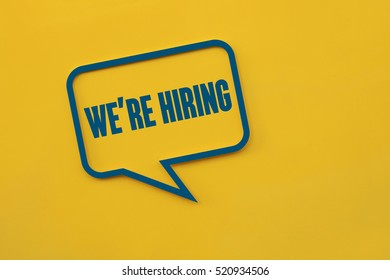 We're Hiring, Business Concept