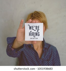 We're hiring. Join our team. Stock image.